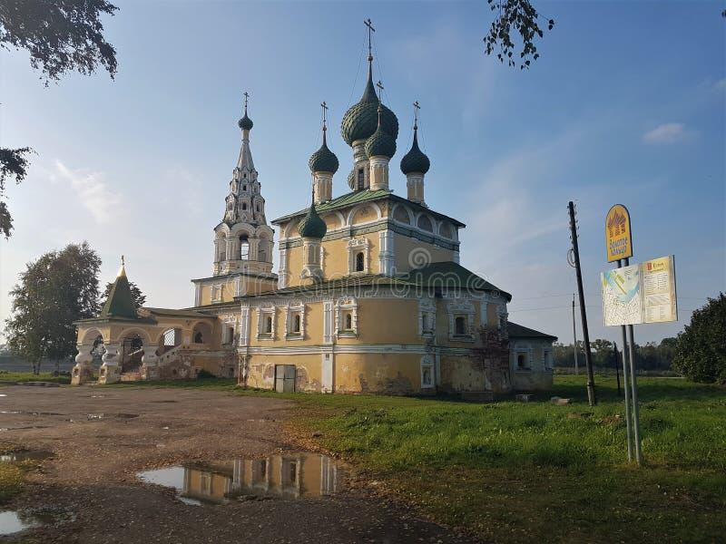 Церковь рождества Иоанна Крестителя в Uglich, регионе Yaroslavl, России стоковая фотография