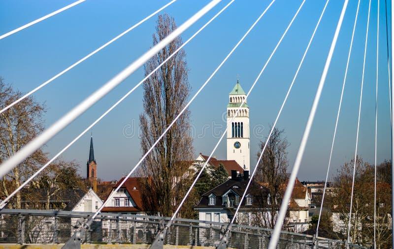 Церковь StJohannes Nepomuk в меньшем немецком городе Kehl, Германии стоковая фотография rf