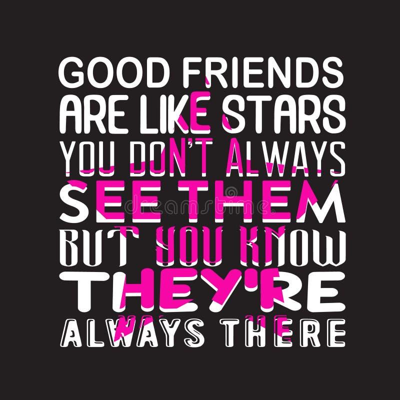 Цитата и говорить приятельства хорошие для дизайна печати иллюстрация штока