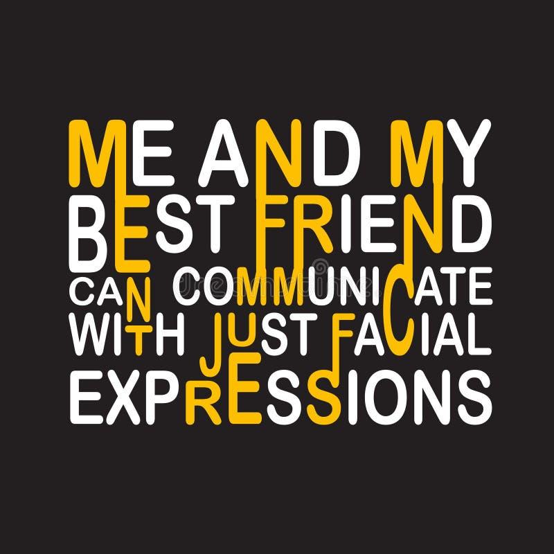 Цитата и говорить приятельства хорошие для дизайна печати бесплатная иллюстрация