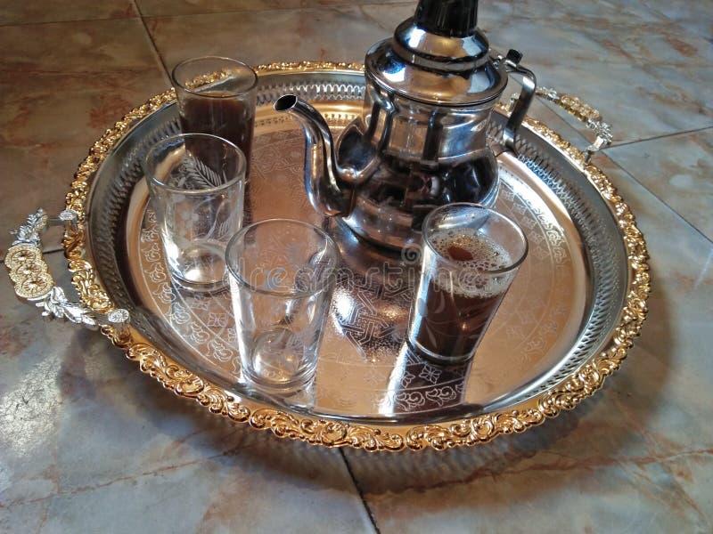 Чайник морокканского чая стоковые изображения rf