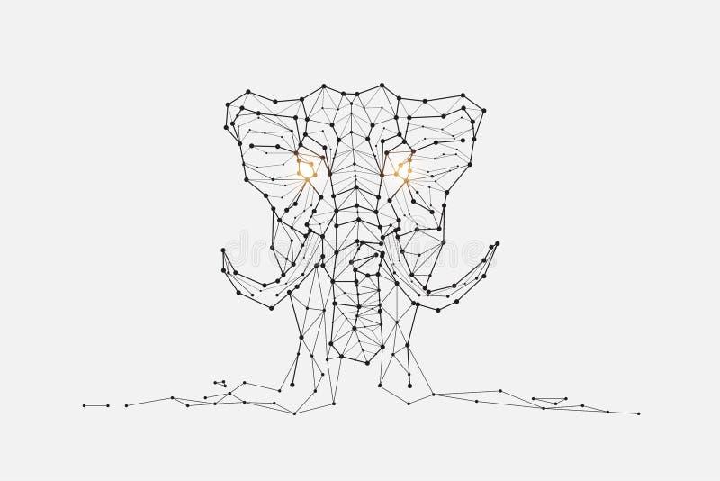 Частицы, геометрическое искусство, линия и точка слона бесплатная иллюстрация
