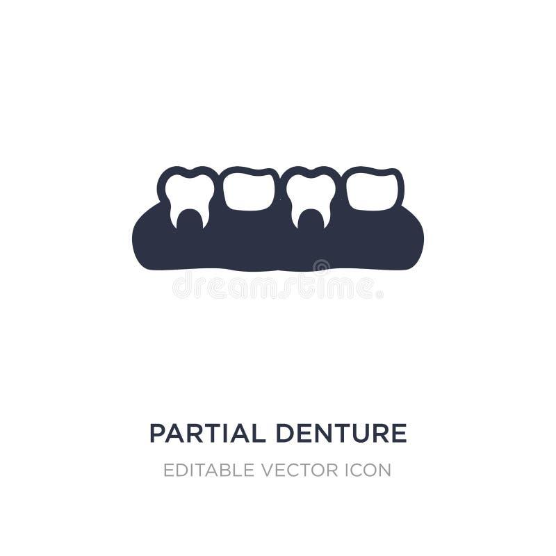 частично значок denture на белой предпосылке Простая иллюстрация элемента от концепции дантиста бесплатная иллюстрация