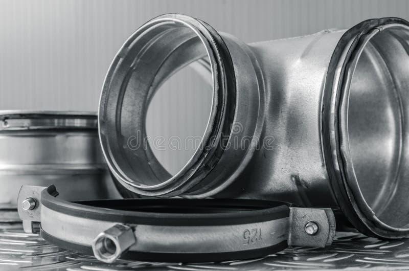 Части установки вентиляции, конца-вверх стоковая фотография