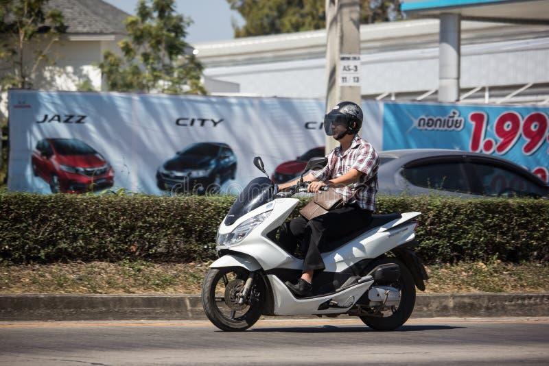 Частный мотоцикл Honda, PCX 150 стоковые фотографии rf