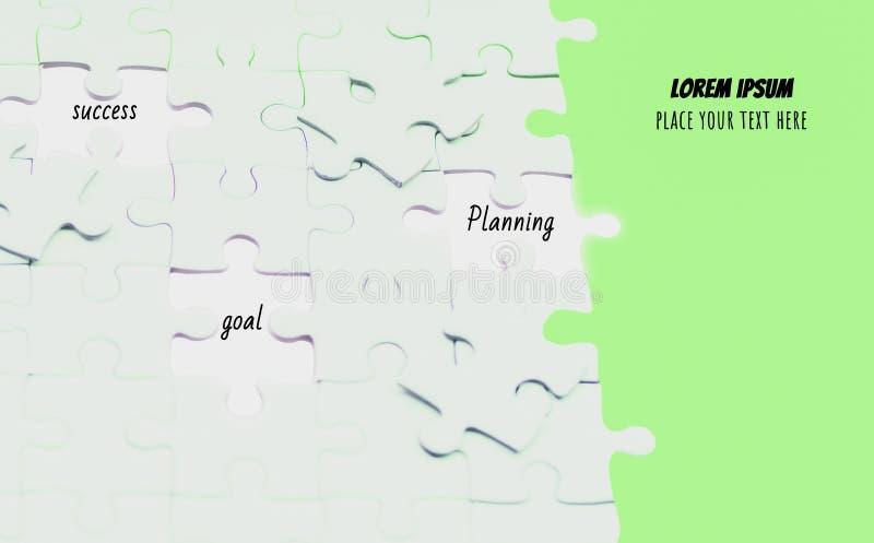 Часть белого зарева части мозаики накаляя пропуская от компонентов, абстрактной концепции дела с успехом и целей и бесплатная иллюстрация