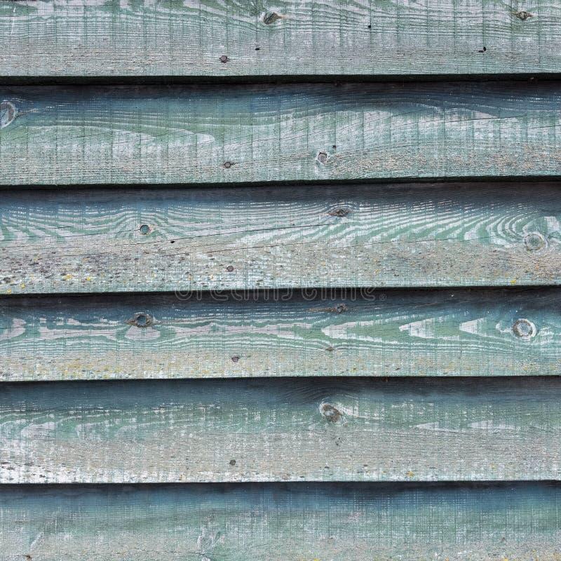 Часть зеленой стены на деревянном амбаре с горизонтальными планками стоковая фотография rf