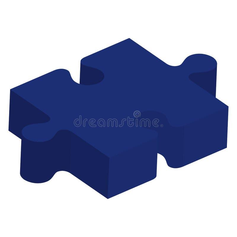 Часть игры головоломки равновеликая иллюстрация вектора