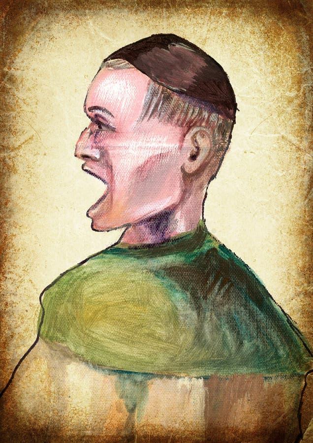 человек Картина руки Винтажный обрабатывать стоковое фото rf
