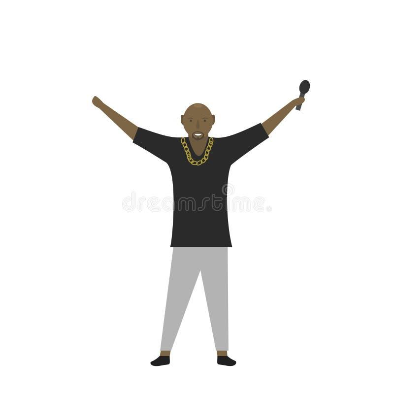 Человек певицы рэппера бесплатная иллюстрация