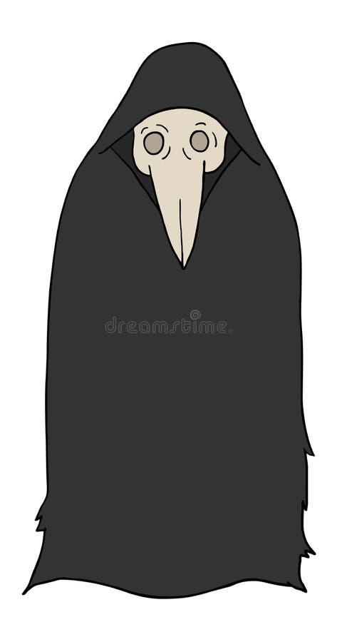 Человек тайны с винтажной маской доктора чумы бесплатная иллюстрация