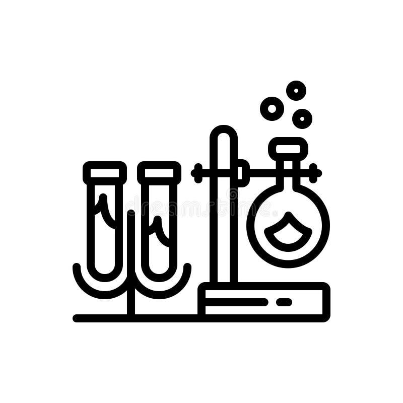 Черная линия значок для оборудования, прибора и инструментирования иллюстрация вектора