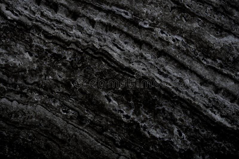 Черная мраморная каменная предпосылка Чернота с серым мрамором, текстура кварца Картина стены и мрамора панели естественная для а стоковое фото rf