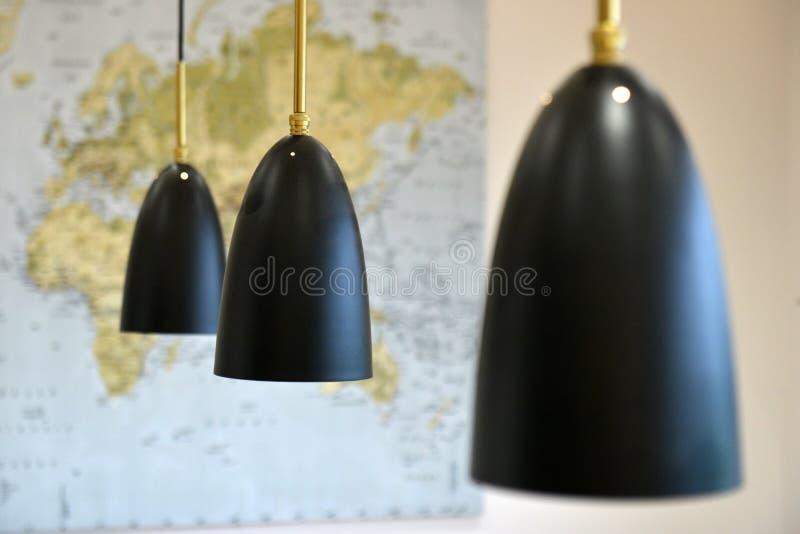 Черные привесные света стоковая фотография rf