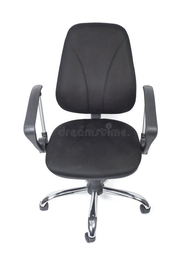 Черный стул офиса ткани стоковое изображение