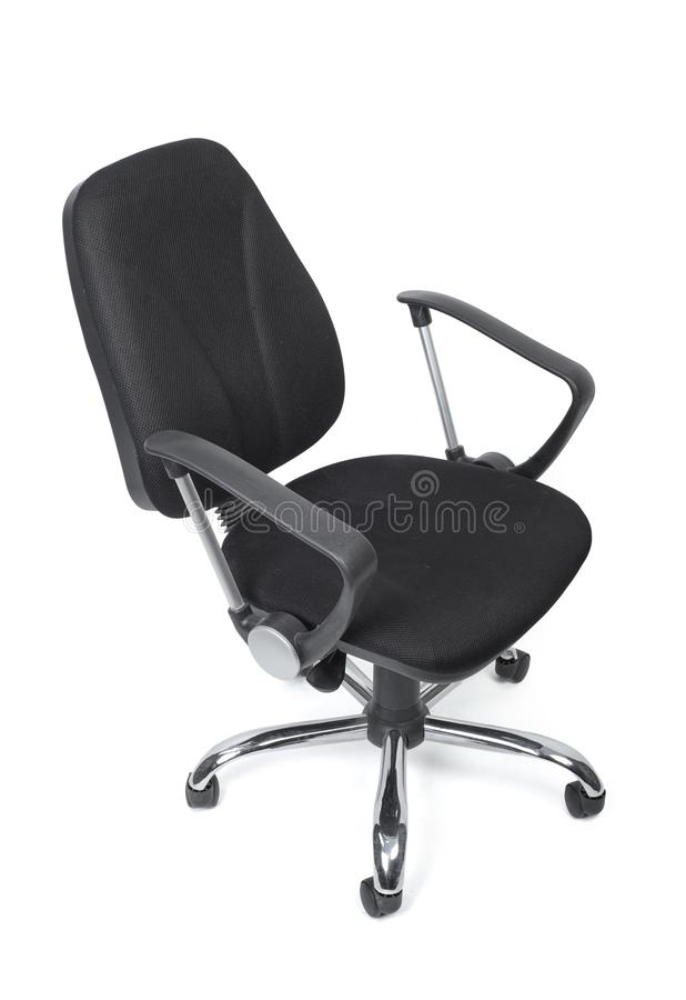 Черный стул офиса ткани стоковая фотография