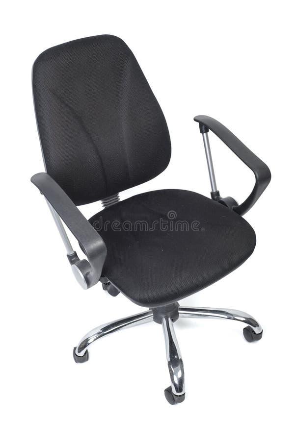 Черный стул офиса ткани стоковые изображения rf