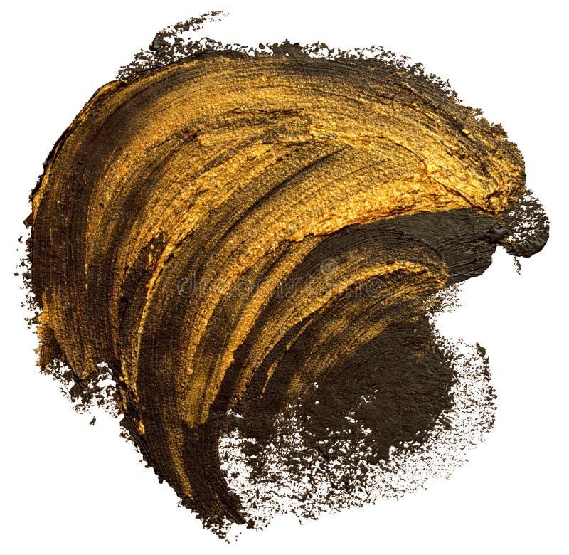 Чернота и шаблон brushstroke краски масла золота бесплатная иллюстрация