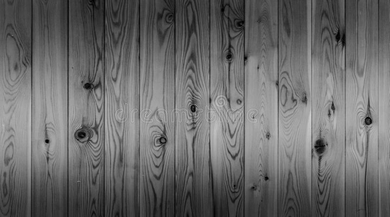 Черно-белая старая деревянная предпосылка текстуры планки Текстура картины деревянной доски Поверхность тимберса темной стены ест стоковые фотографии rf
