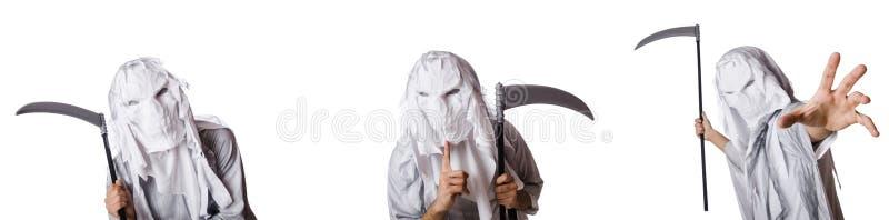 Чудовище с косой в концепции хеллоуина стоковые изображения rf