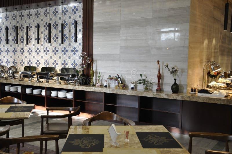 Ханчжоу, 3-ее может: Ресторан роскошного отеля в Ханчжоу стоковое изображение rf