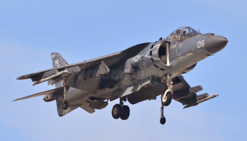 Харриер морской пехот AV-8B скачет двигатель стоковое фото