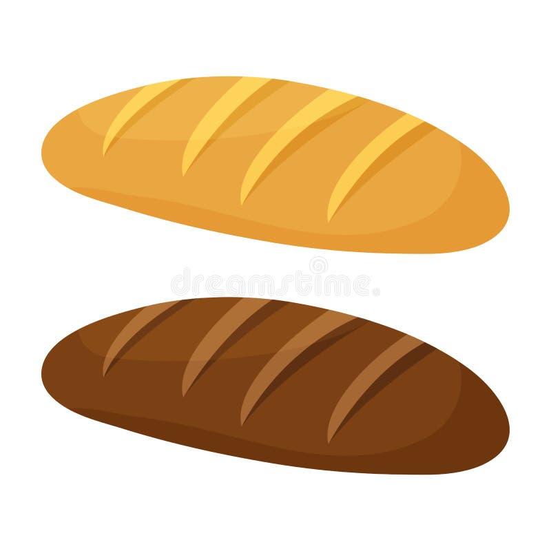 Хлебец хлеба пшеницы и рож также вектор иллюстрации притяжки corel иллюстрация вектора