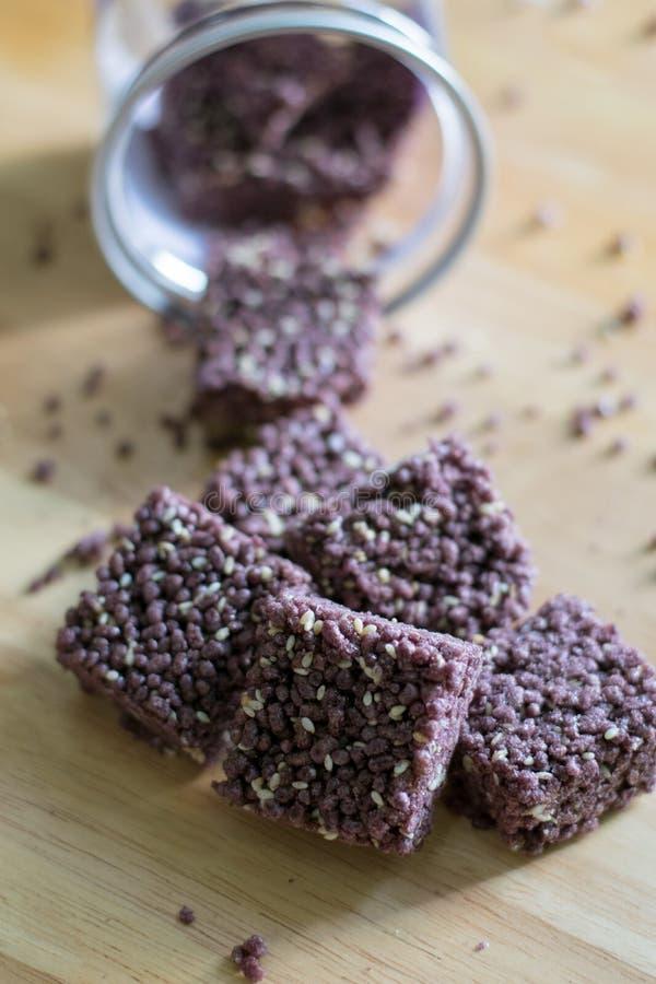 Хрустящая riceberry закуска стоковая фотография