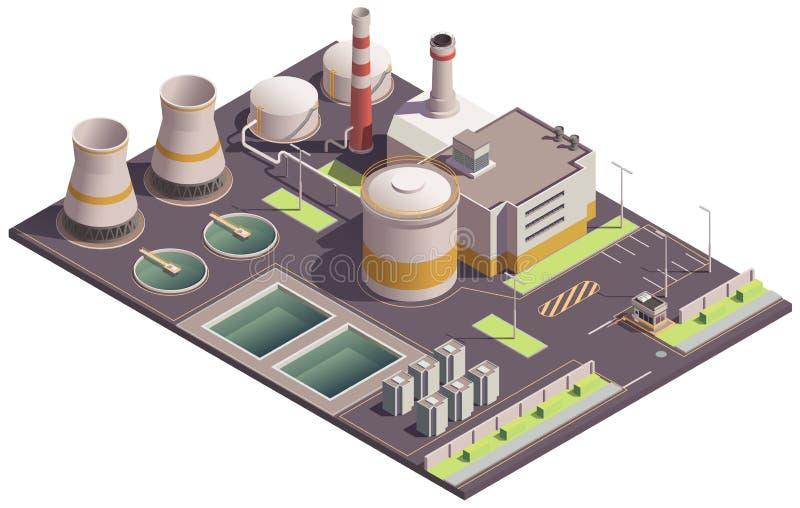 Равновеликий промышленный состав места иллюстрация вектора