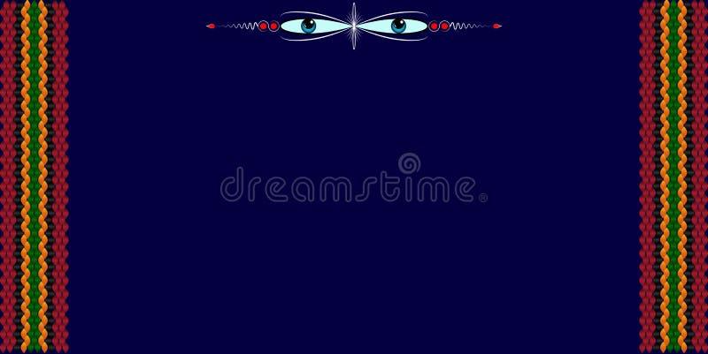 Рамка для текста с картиной на ткани Sadu бедуина бесплатная иллюстрация