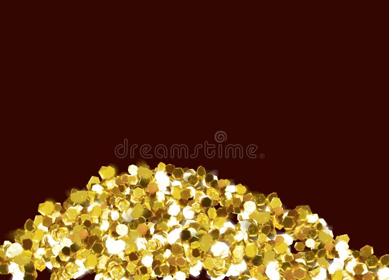 Рамки любов золота стоковые изображения rf