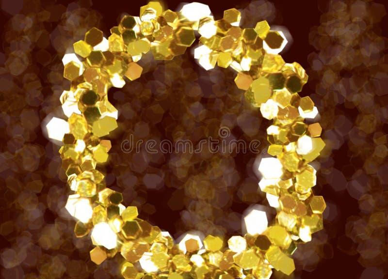 Рамки любов золота стоковое изображение