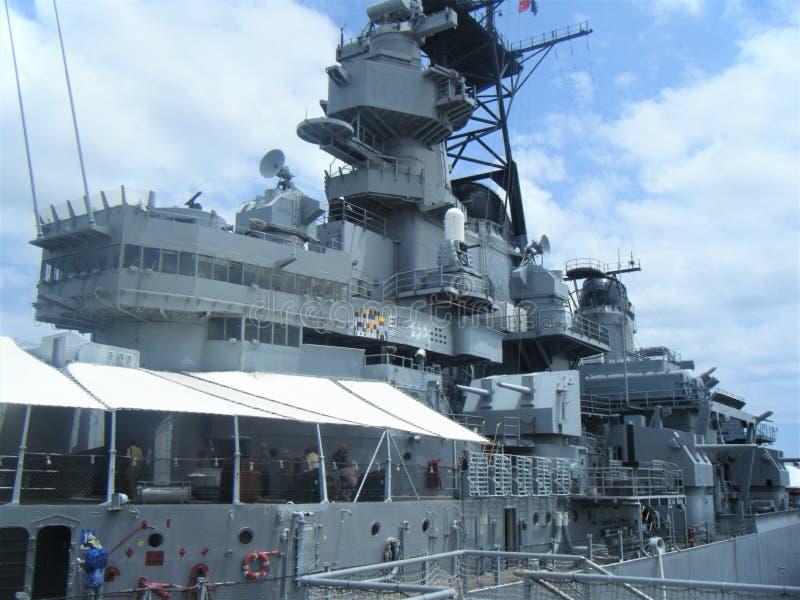 Рангоут мемориала USS Missouri линкора, Перл-Харбор Гаваи стоковые изображения rf