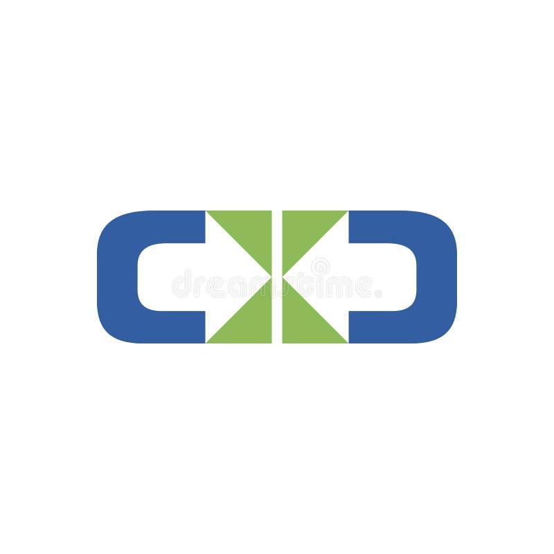 Распределите дизайн символа 2 направлений иллюстрация штока
