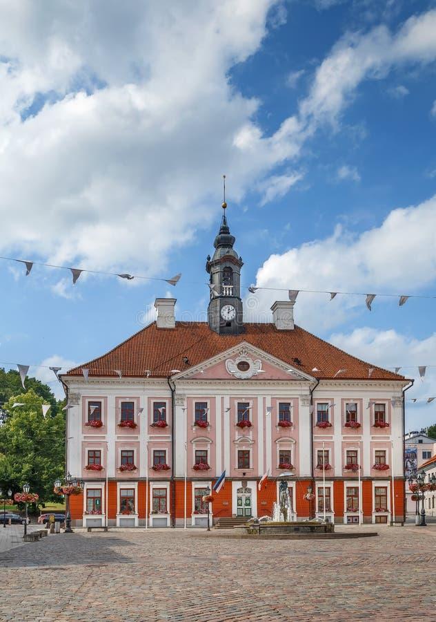 Ратуша Tartu, Эстонии стоковые фотографии rf