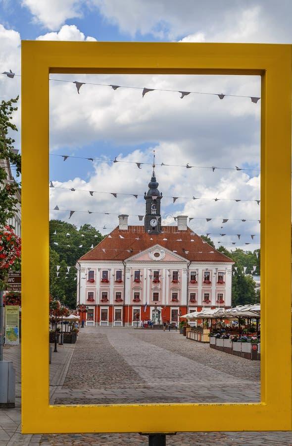 Ратуша Tartu, Эстонии стоковые изображения