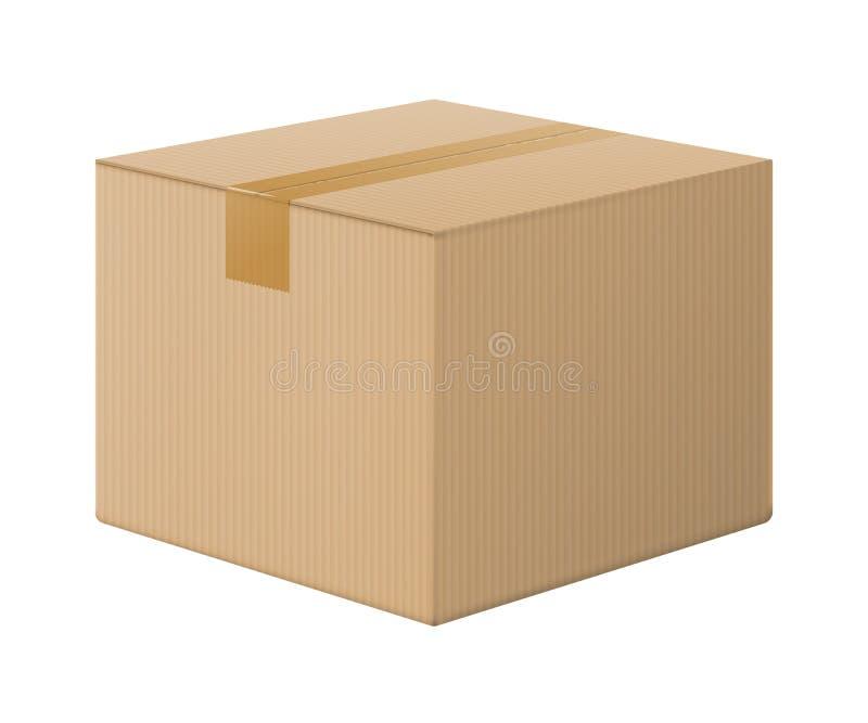 Реалистическая картонная коробка, раскрыла взгляд сверху бесплатная иллюстрация
