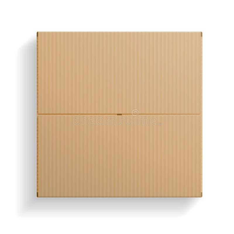 Реалистическая картонная коробка, раскрыла взгляд сверху иллюстрация штока
