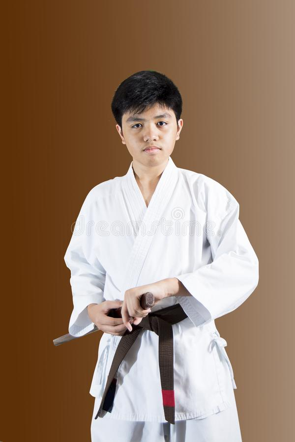 Ребенк самурая стоковые фотографии rf