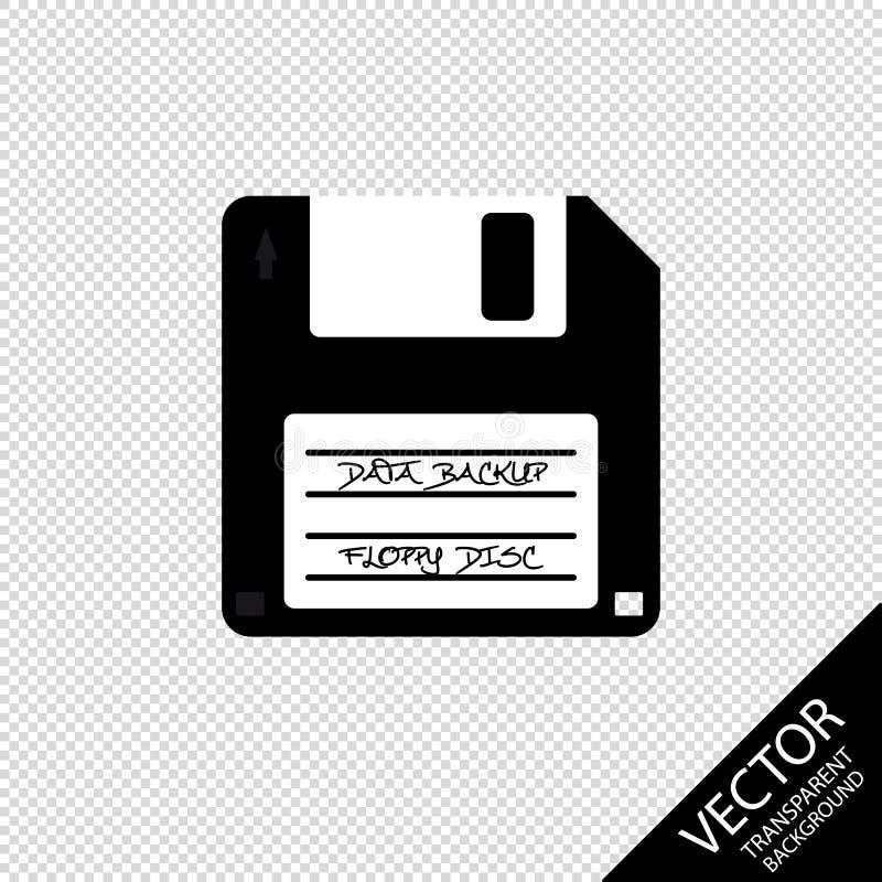 Резервная копия данных неповоротливого диска - иллюстрация вектора - изолированная на прозрачной предпосылке бесплатная иллюстрация