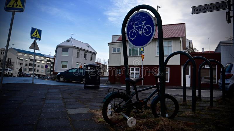 Рейкявик, улица центр Рейкявика, Исландии стоковая фотография rf