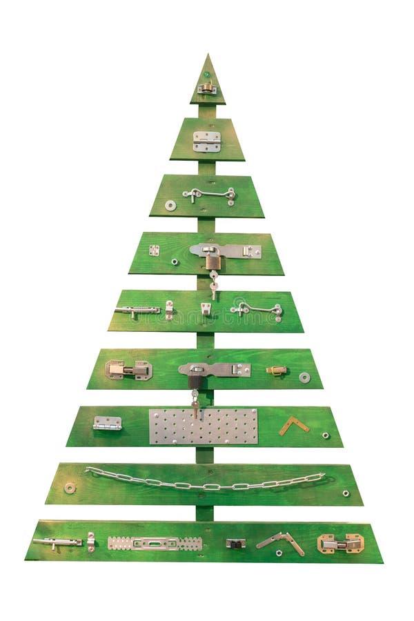 Репрезентивное или символическое изображение рождественской елки для различных польз как бумага подарка, поздравительная открытка стоковая фотография rf
