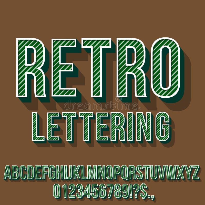 Ретро винтажный шрифт стоковые изображения rf