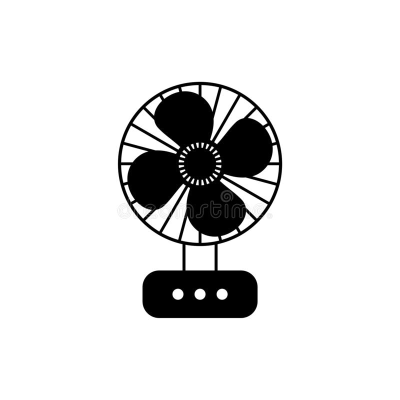 Ретро значок или логотип вентилятора таблицы иллюстрация штока