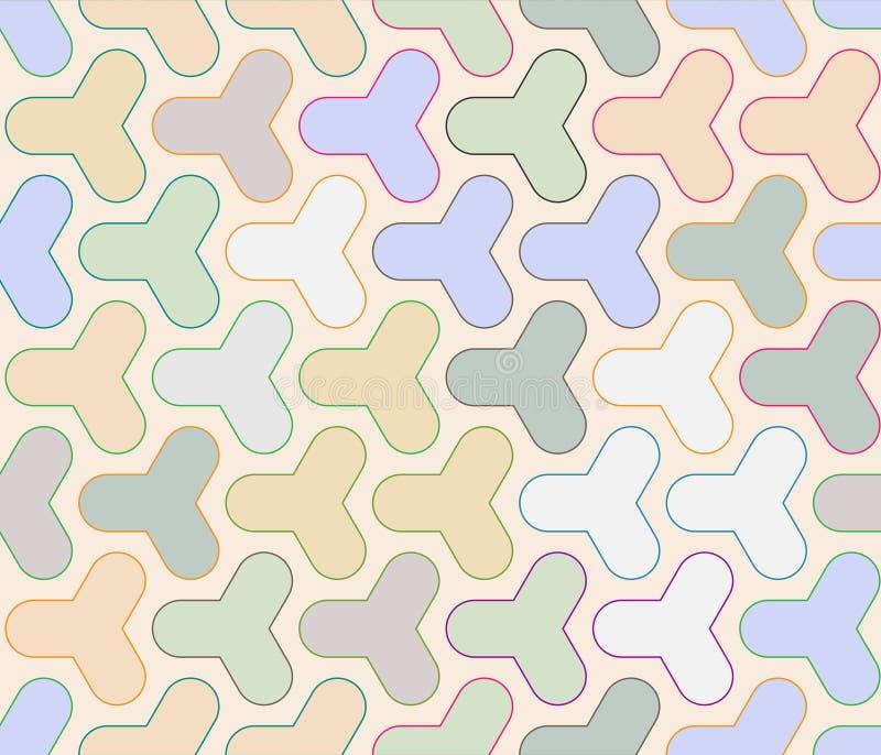 Ретро повторяющийся обои - винтажная картина вектора иллюстрация штока