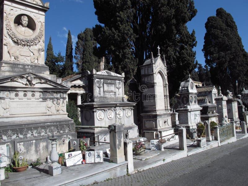 Рим кладбище Verano стоковые фотографии rf