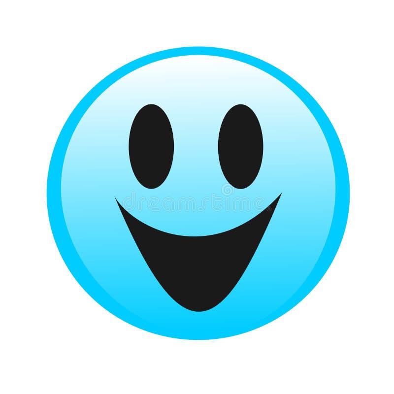 Рисуя улыбка логотипа иллюстрация вектора