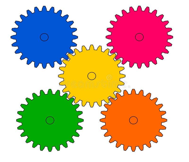 Рисуя шестерня колеса бесплатная иллюстрация