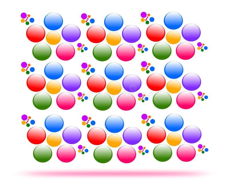 Рисуя цветки вектора, безшовная текстура иллюстрация вектора