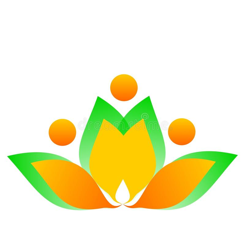 Рисуя цветок логотипа вектора иллюстрация штока